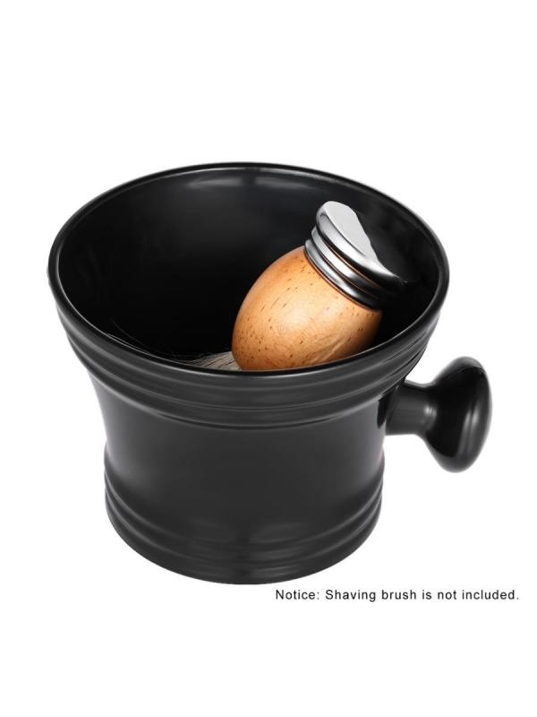 Men's Plastic Shaving Bowl With Handle Soap Mug Bowl Barber Cleaning Cup