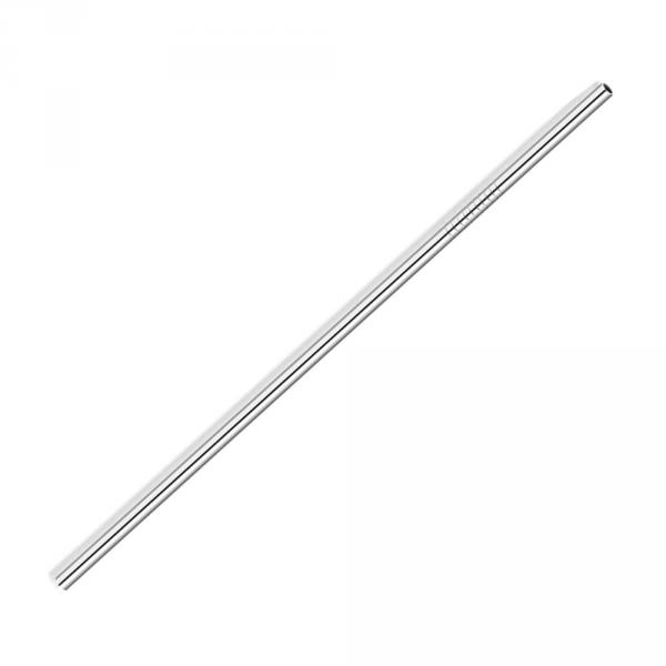 2Pcs Stainless Steel Straws Set Reusable Eco-friendly Straight/Bent Drinking Straws With Cleaning Brush