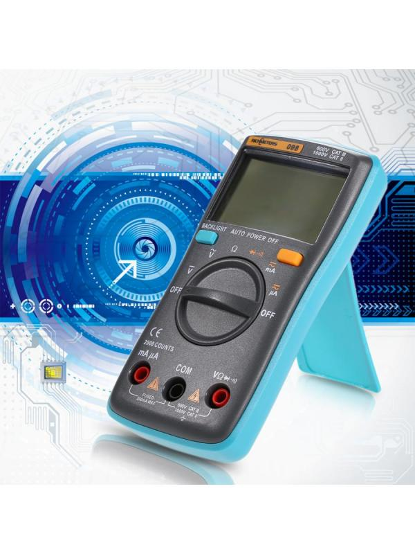 RICHMETERS RM098 Multi-functional LCD Digital Multimeter DMM DC AC Voltage Current Resistance Diode Continuity Tester