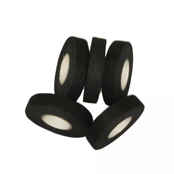 5 Rolls Wiring Loom Harness Tape Cable Looms Wiring Harness Cloth Adhesive Fabric Tape for Automobile