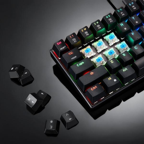 MOTOSPEED CK61 RGB Mechanical Gaming Keyboard OUTMU Blue Switch Keyboard 61 Keys With Backlight Keyboard