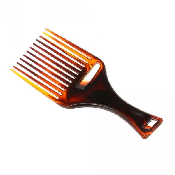 Plastic Hair Comb Insert Afro Hair Pick Comb Hair Fork Comb Hairdressing Oil Slick Head Hairstyling Brush