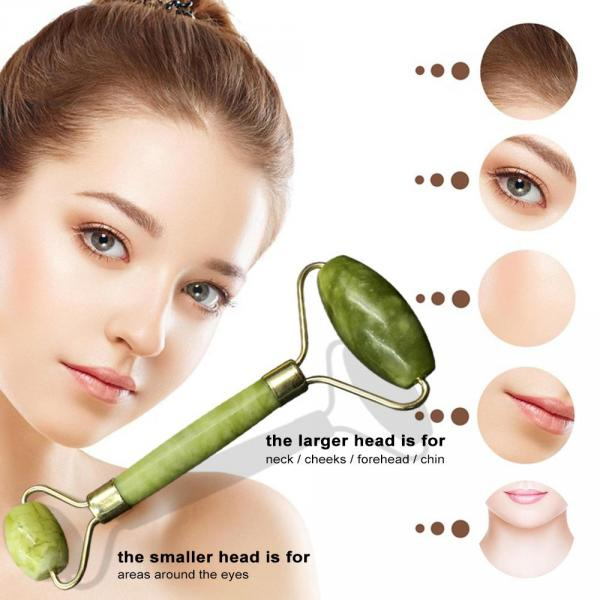 Jade Roller with Protective Box for Facial Skin Care Facial Massage Roller Face Slimming Anti-aging Face-lifting Tool