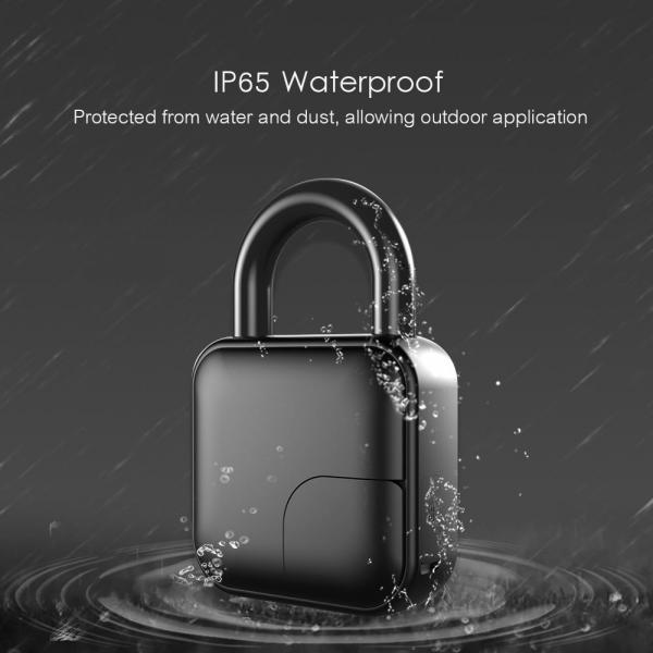Smart Fingerprint Lock USB Rechargeable Keyless 10 Sets Fingerprints IP65 Waterproof Anti-Theft Security Padlock