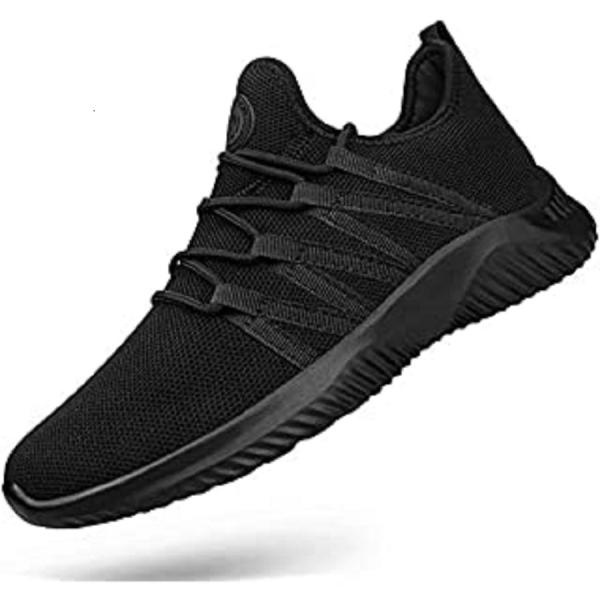 Men's Sports Fashion Shoes Fly Knitting Fish Scale Pattern Round Toe Lacing Damping Shoes